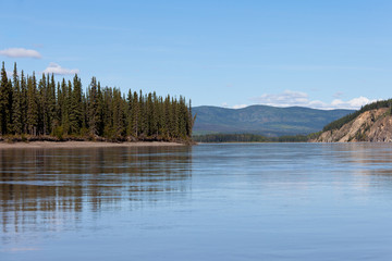 Taiga hills at Yukon River near Dawson City