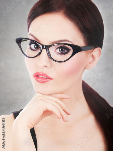 Attractive woman wearing glasses