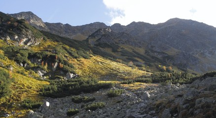 Spalena dolina in western part of Tatra mountains