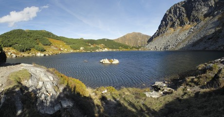 Horne Rohacske pleso in western part of Tatra mountains