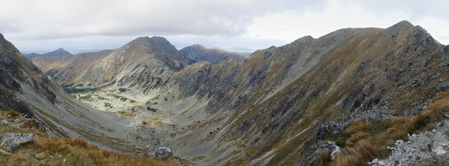 Skriniarky range above Vrece in western part of Tatra mountains