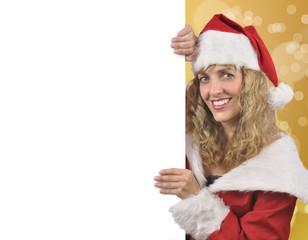 Rótulo navideño.
