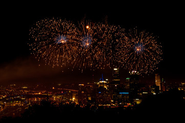 Independence Day Fireworks over Pittsburgh