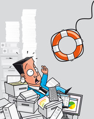 Rescue of overworked businessman