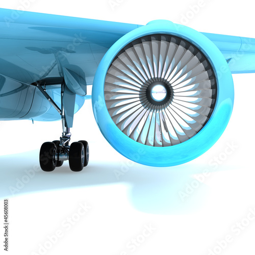 Nice jet engine front view.