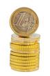 Stapel mit Euromünzen