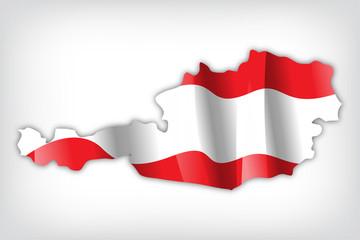 Österreich Karte Flagge