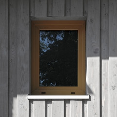 House with wooden facade - window