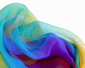 Gasa de seda sobre fondo blanco