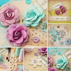 scrapbooking craft materials collage