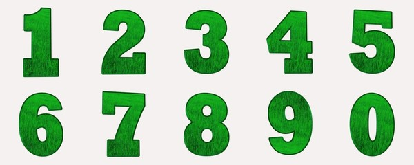 sayılar yeşil