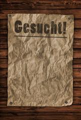 Gesucht - Steckbrief