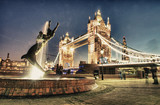 Scenic night view of Tower Bridge in all its magnificence - Lond