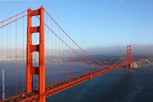 Fototapeten,san francisco,goldene,golden gate bridge,nebel