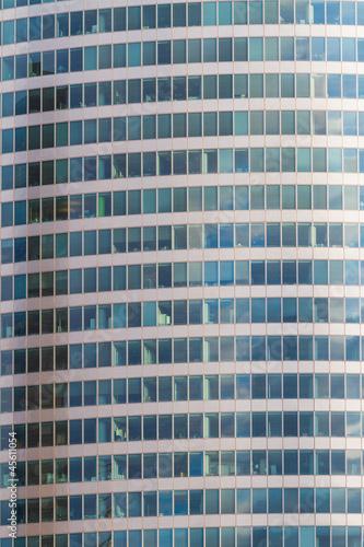 Abstract Facade of Skyscraper in Paris