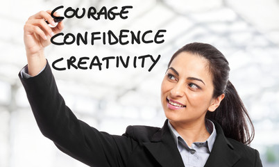 Courage, Confidence and Creativity
