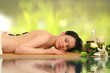beautiful woman relaxing in spa