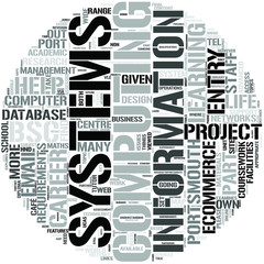 Computing And Information Systems Dl Word Cloud Concept