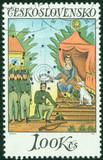 Stamp shows image of Czechoslovakia Painting