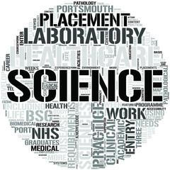 Healthcare Science Word Cloud Concept