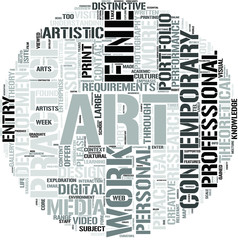 Contemporary Fine Art Word Cloud Concept