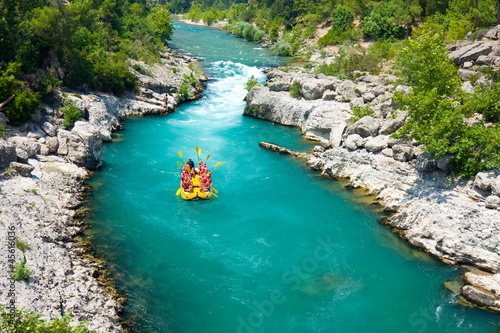 Aluminium Turkey rafting in the green canyon, Alanya, Turkey