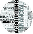 Accounting And Business Word Cloud Concept
