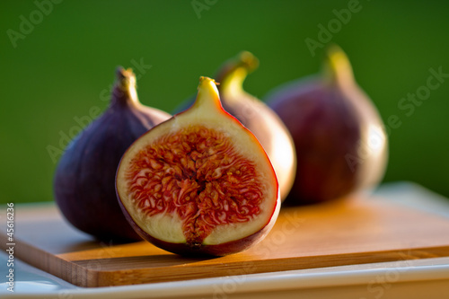 Autumn garden - ripe fig fruits