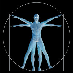 Vitruvian human or man as concept