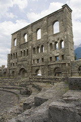 Old roman ruins in Aosta