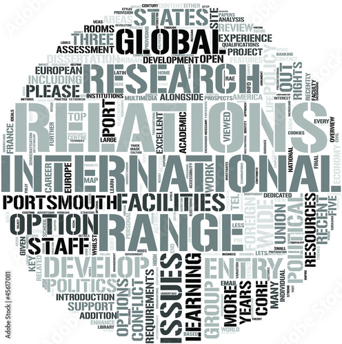 International Relations Word Cloud Concept