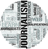 Journalism Word Cloud Concept