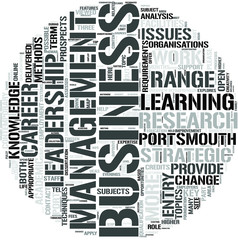 Leadership Business and Management Word Cloud Concept