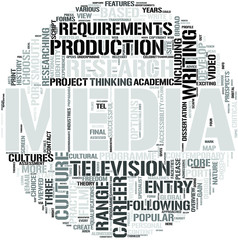 Media Studies Word Cloud Concept