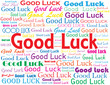 """GOOD LUCK"" card (best wishes retirement job well done)"