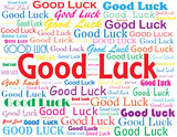 """""""GOOD LUCK"""" card (best wishes retirement job well done)"""