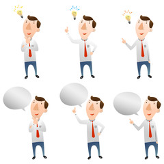 businessman with idea and speech bubble