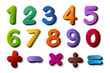 numbers and maths symbols