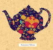 Vector illustration with teapot