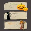 Vector Illustration of Decorative Halloween Banners