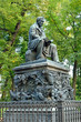 The monument to russian fabulist Ivan Krylov