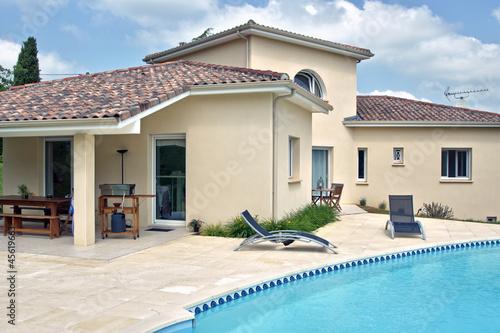 Poster magnifique villa et sa piscine  # 06