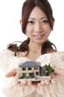 女性、住宅のイメージ