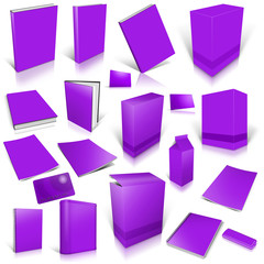 Violet 3d blank cover collection