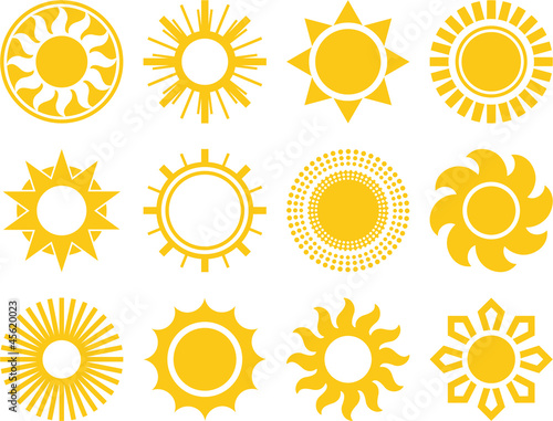 Abstract vectorized suns