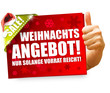 Weihnachtsangebot! Button, Icon