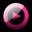 Play Button / Icon Magenta Schwarz