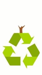 Baum auf Recyclinglogo