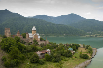 The castle and church of the Assumption,  Ananuri, Georgia
