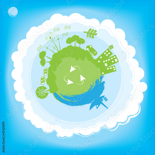 Think Green  Ecology Concept